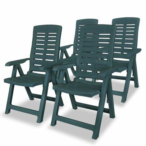 Garten-Liegestühle 4 Stk. Kunststoff Grün