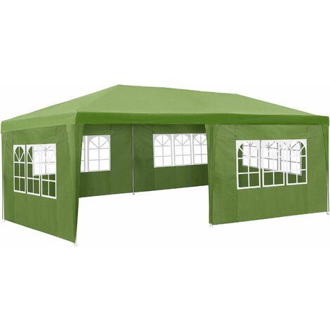 """main image of """"Garten Pavillon 6x3m mit 5 Seitenteilen - Partyzelt, Bierzelt, Festzelt"""""""