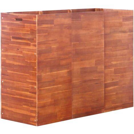 Garten-Pflanzgefäß Akazienholz 150 x 50 x 100 cm