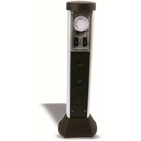 Garten-Steckdose mit Zeitschaltuhr REV 0068206258, 2-fach, IP44