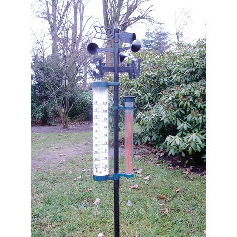 Garten Wetterstation Garten Barometer Regenmesser Thermometer