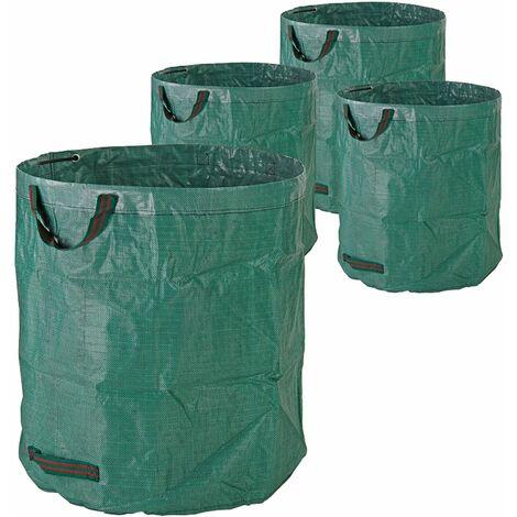 Gartenabfallsack Laubsack Gartensack 272 Liter 4er Set Garten Abfallsack 150gr/qm