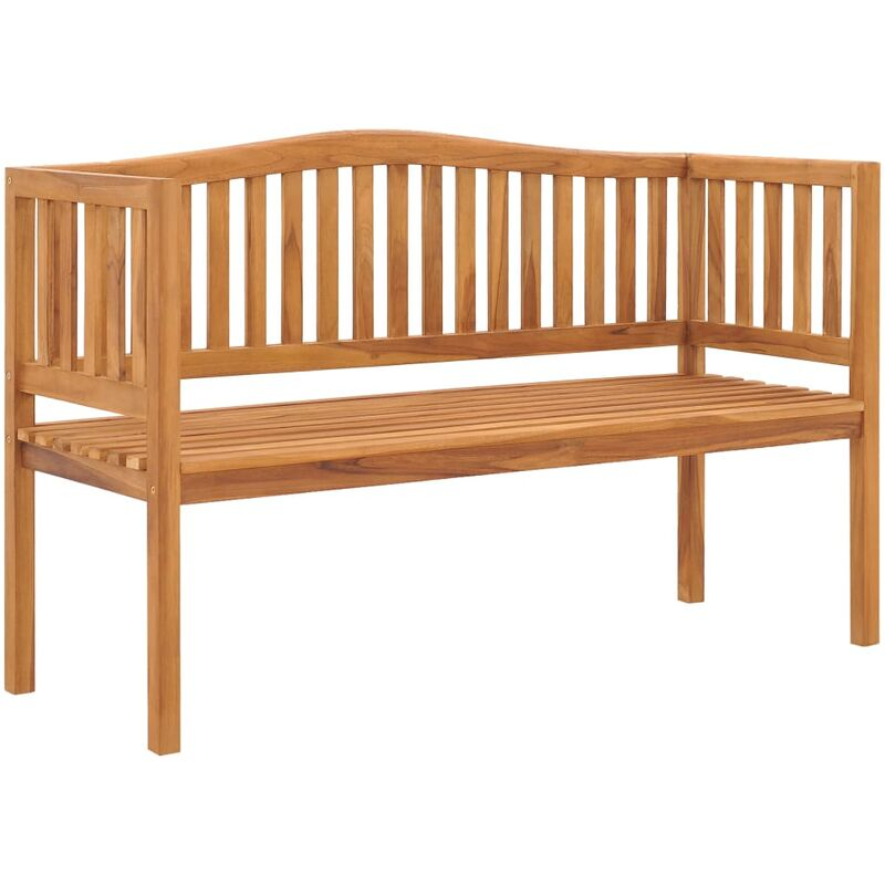 Gartenbank 150 cm Massivholz Teak - ZQYRLAR