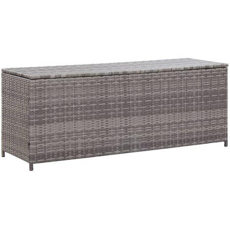 Gartenbox Grau 150×50×60 cm Poly Rattan