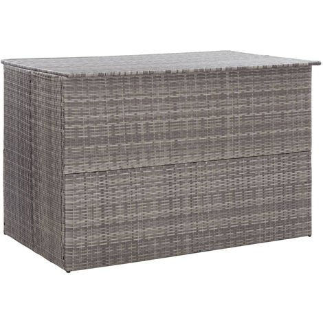 Gartenbox Grau 150¡Á100¡Á100 cm Poly Rattan