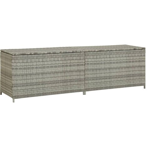 Gartenbox Poly Rattan 200¡Á50¡Á60 cm Grau