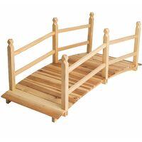 Gartenbrücke aus Holz 140cm lang