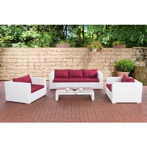 Gartengarnitur Casablanca Rubinrot Weiß Clp304639