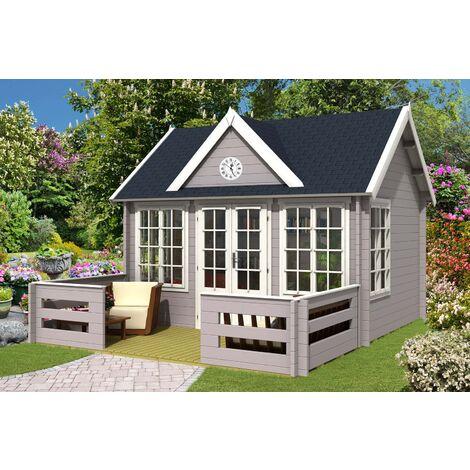 Gartenhaus Clockhouse-44 Royal mit Terrasse