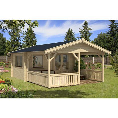 Gartenhaus Modell Flex 50-A mit 300cm Terrasse