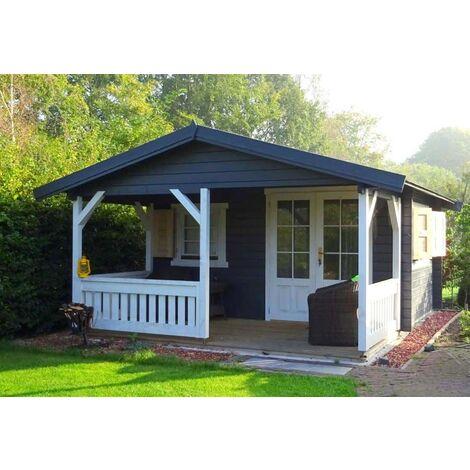 Gartenhaus Modell Flex 50-C mit 300cm Terrasse, ohne Imprägnierung ...