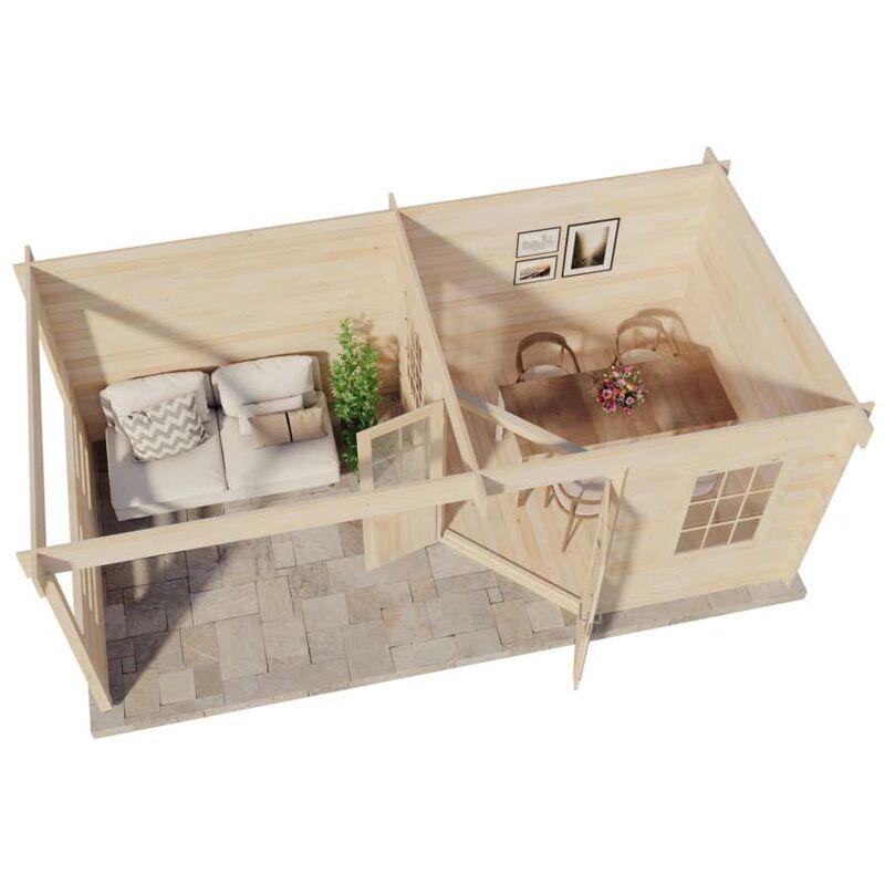Flachdach Gartenhaus Modell Oregon 40