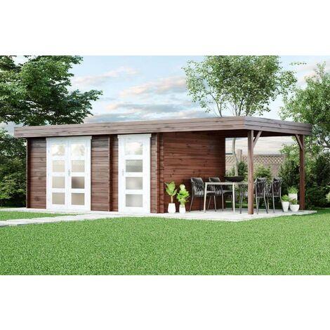 Gartenhaus Modern-E mit Schleppdach, ohne Imprägnierung:Ohne Schutz ...