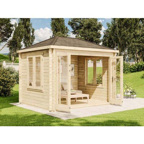 Gartenhaus Summertime-40 mit großer Falttür