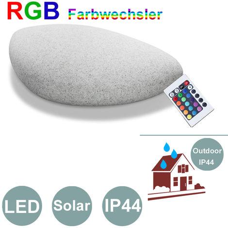 Gartenleuchte IBV Solar Dekostein Farbwechsler Außenlampe