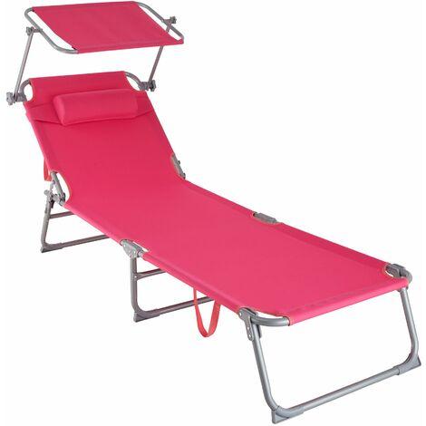 Gartenliege 4-stufig mit Kopfpolster - Sonnenliegen, Liegestühle, Relaxliegen