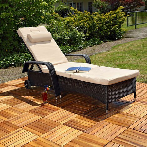 Gartenliege Sonnenliege Liege Relaxliege GartenmöblLiegestuhl Polyrattan