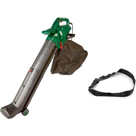 GartenMeister Aspirateur électrique 4 en 1, 3000 watts + sac supplémentaire et harnais de sécurité