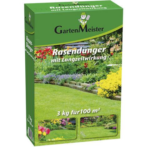 GartenMeister Engrais pour gazon à effet durable, 3 kg - portée jusqu'à 100 m².