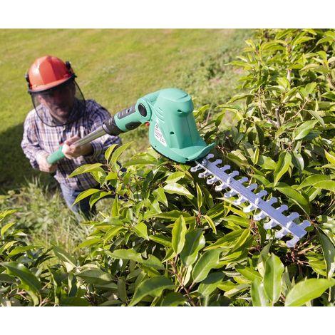 GartenMeister Taille-haies et coupe-herbes sans fil - 10,8 V - avec roues et poignée télescopique