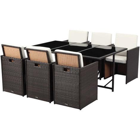 Gartenmöbel aus Harzgeflecht Chicago - 6 Sessel 1 Tisch ...