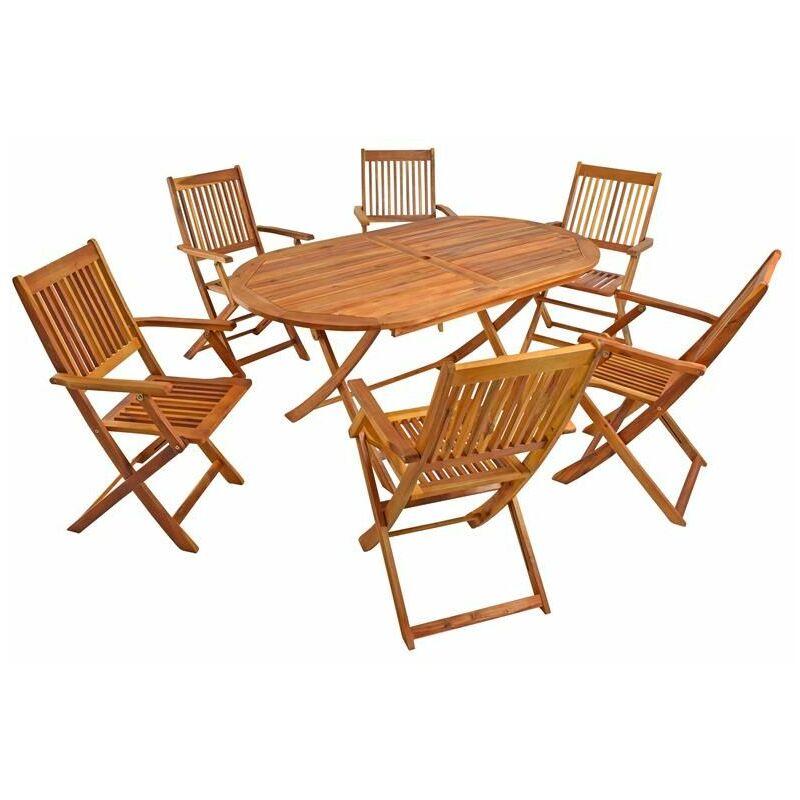 Gartenmöbel Holz Sitzgruppe Akazienholz Sitzgarnitur Gartengarnitur Gartenset - ESTEXO