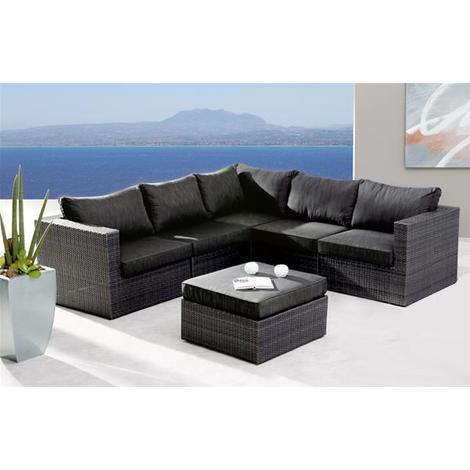 Gartenmöbel Loungemöbel Set Aruba Best 6 Teilig Polyrattan