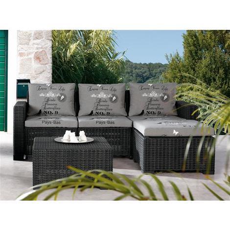Gartenmöbel Loungemöbel Set Kenia Best Kunststoff Graphit D1531 Anth