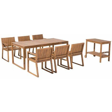 Gartenmobel Set Akazienholz 6 Sitzer Sassari 83178