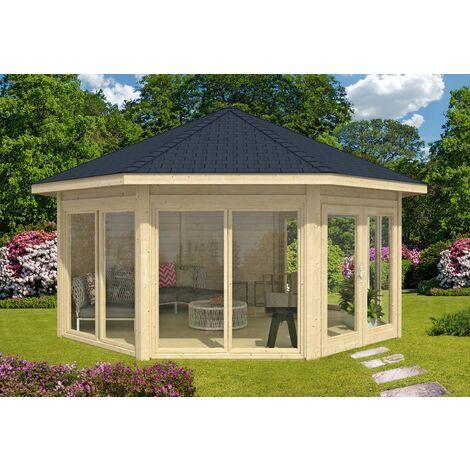 Gartenpavillon Modell Rügen mit vier Fenstern