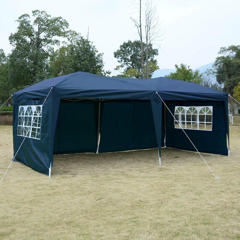 3x3m Partyzelt Hochzeit Festzelt Pavillon Bierzelt Gartenpavillon Camping