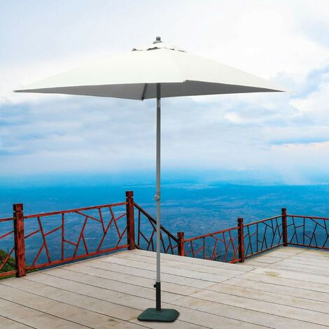 Gartenschirm 2x2 Sonnenschirm Alu Mittelmast quadratisch Café Hotel PLUTONE