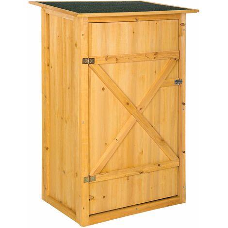 Gartenschrank mit Flachdach - Geräteschrank, Terassenschrank, Outdoor schrank - braun
