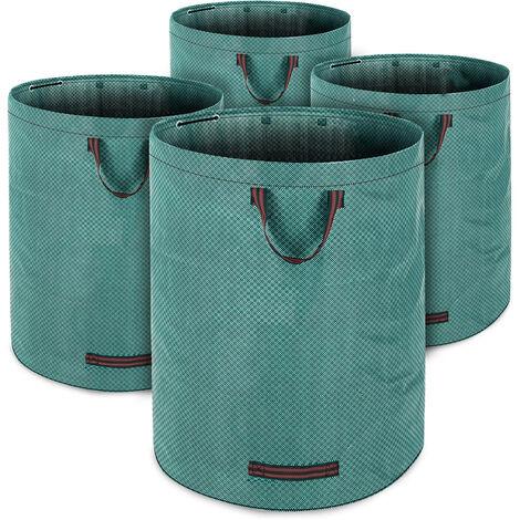 Gartentasche 280L, max. 50kg Füllgewicht + 3 Tragegriffe 4x Laubsack