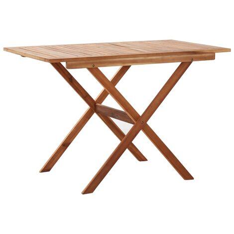 Gartentisch 110 x 67 x 74 cm Massivholz Akazie