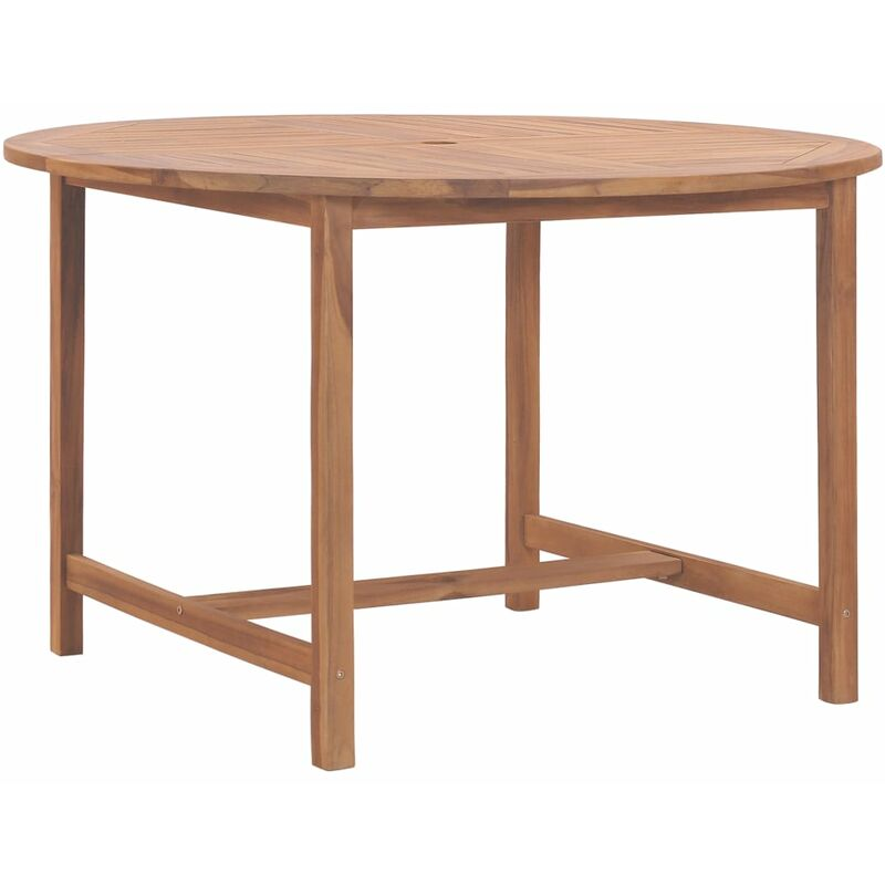 Gartentisch 120 x 76 cm Massivholz Teak - VIDAXL