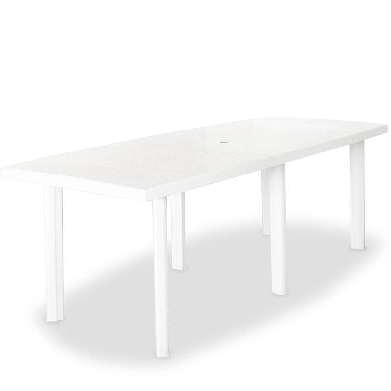 Gartentisch 210 x 96 x 72 cm Kunststoff Wei?