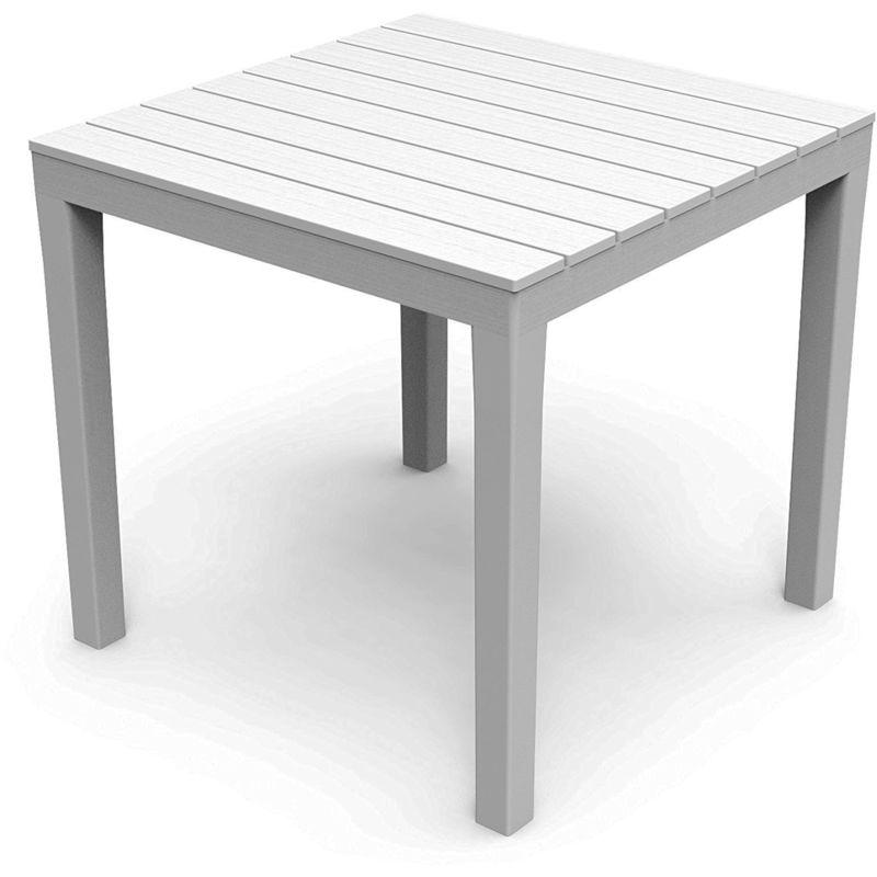 Gartentisch Bistrotisch Klapptisch CASABLANCA 60x60cm Holz weiß 2 WAHL