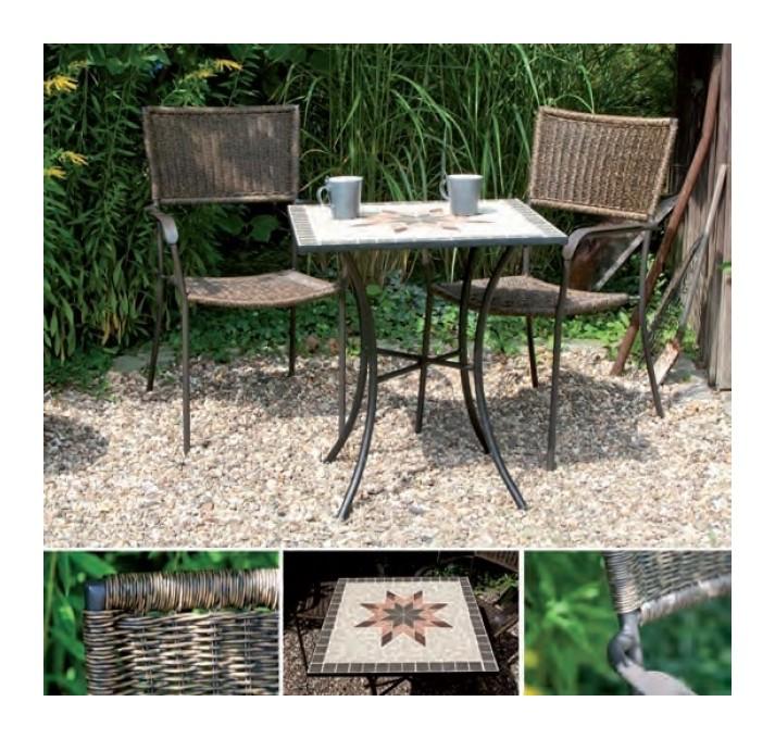 d940679c0795f0 Gartentisch   Balkontisch Siena Garden Stella 64x64 Eisen schw. Mosaik