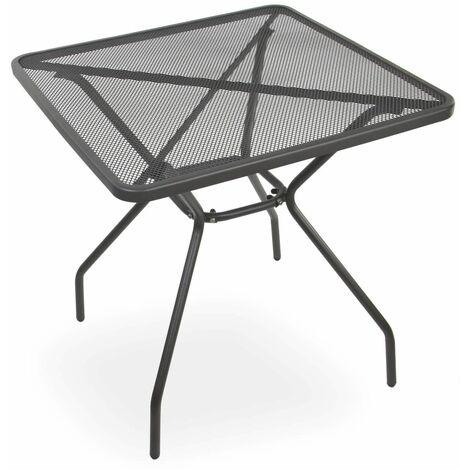 Gartentisch Balkontisch Streck-Metall-Tisch Abwaschbar Seattle 70 x 70 cm Stabil