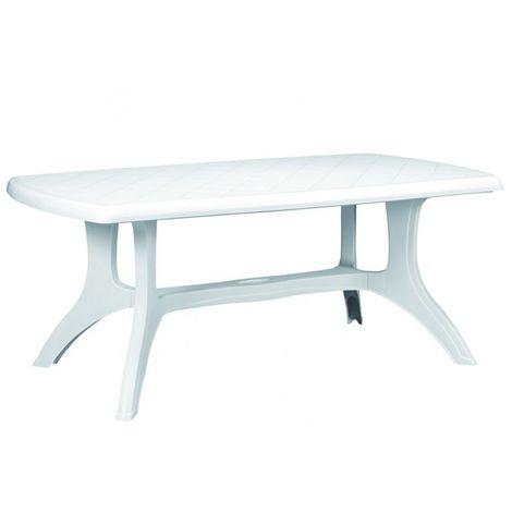 Gartentisch Eckig.Gartentisch Eckig Wellington 184 X 103 Cm Weiß Kunststoff