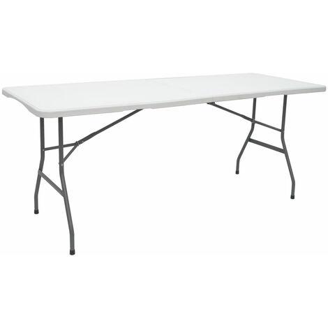 Gartentisch für 6 Personen - 180 x 70 cm Klapptisch - Camping Esstisch Klappbar