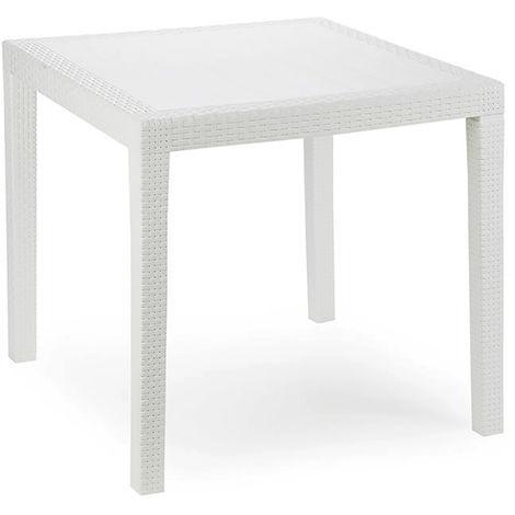 Gartentisch King Eckig Weiß 79x79x72cm-MKIN028BI