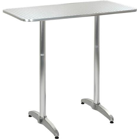 Gartentisch Silbern 120 X 60 X 70 110 Cm Aluminium