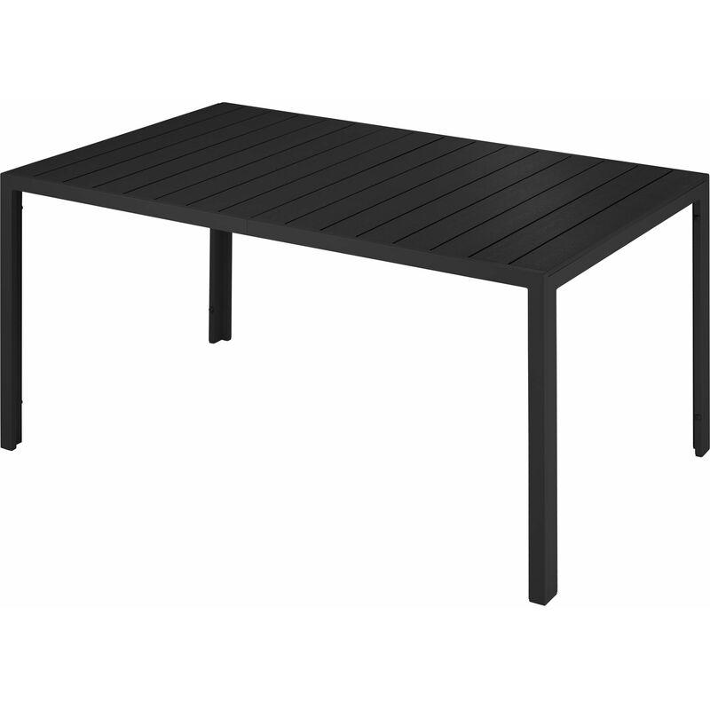 Gartentisch Simona - Balkontisch, Terrassentisch, Outdoor Möbel - schwarz - negro - TECTAKE