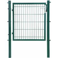 Gartentor aus verzinktem Stahl robust und langlebig mit Schloss und Schlüssel Tormaße: 106 x 150cm Maschenmaße: 50 x 200mm Grün GGD250L