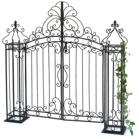 Gartentor Gartentür 120cm 170747 Gartenpforte Metall Antik Eingang Tor Garten