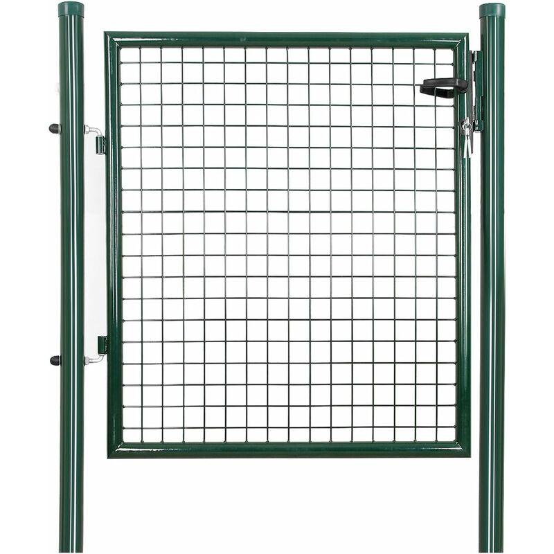 100x100 cm Gartentor inkl Pfosten Gartenpforte grün Zauntor Hoftor Pforte Tor