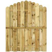 Gartentor Imprägnierte Kiefer 100 x 125 cm Gewölbtes Design