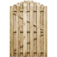 Gartentor Imprägnierte Kiefer 100 x 150 cm Gewölbtes Design